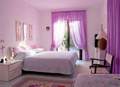 Использование фиолетового цвета в интерьере