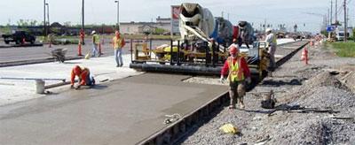 Использование бетона в дорожном строительстве