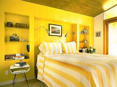 Желтый цвет в интерьере, его комбинации