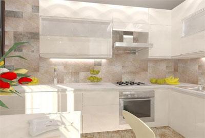 Дизайн интерьера тесной кухни
