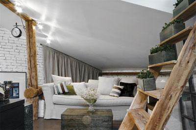 Выбор мебели для мансарды