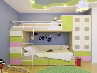 Кровать-чердак для вашей детской комнаты