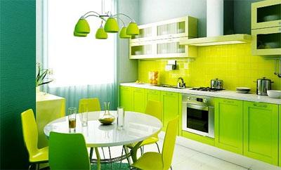 Кухонный интерьер в стиле хай-тек