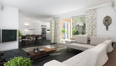 Квартира в стиле модерн - необычно, красиво, уютно