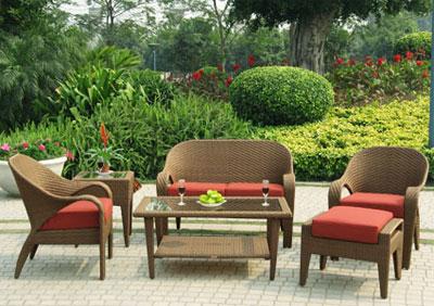 Плетеная садовая мебель