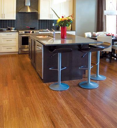 Виды напольного покрытия для кухни