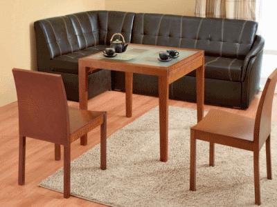 Для организации кухонного пространства в малогабаритной квартире оптимальное решение угловой диван