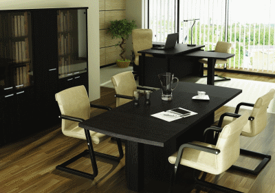 Директорский кабинет и мебель в цвете венге