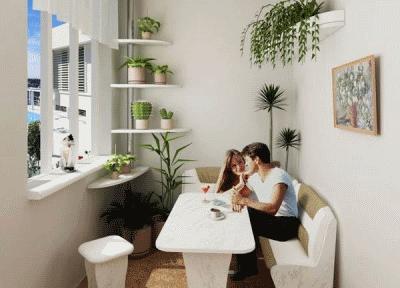 Дизайн балкона и мебель