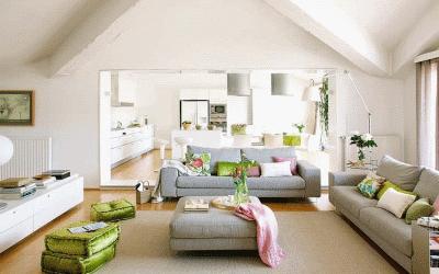 Гармония мебели и ковра в гостиной