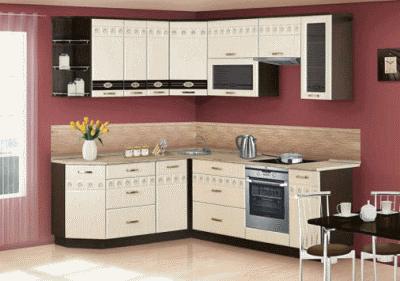 Кухни эконом класса выполненные в современном стиле