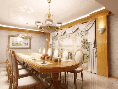 Обустройство столовой в частном доме
