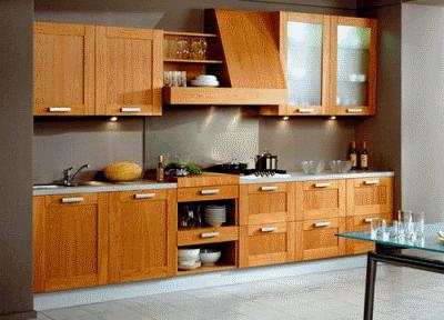 Кухонная мебель из деревянного массива