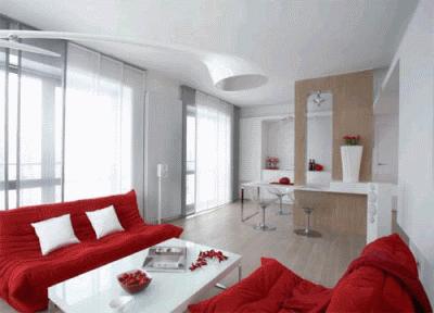 Нотки красного цвета в дизайне интерьера