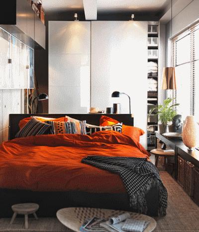 Простое обустройство спальни