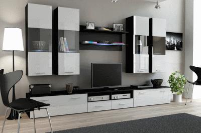 Дизайнерская современная глянцевая модульная мебель