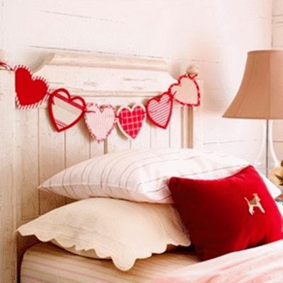 Придаем интерьеру праздничного настроения ко Дню всех влюбленных