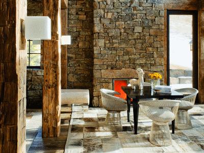 Камень в интерьере дома – неповторимый художественный декор