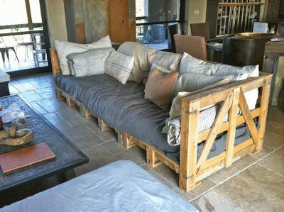 Мебель из паллет - оригинальное решение
