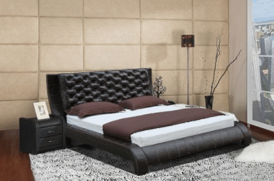 Кожаная кровать - окружаем себя изысканной мебелью