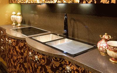 Плюсы кухонных столешниц из искусственного камня