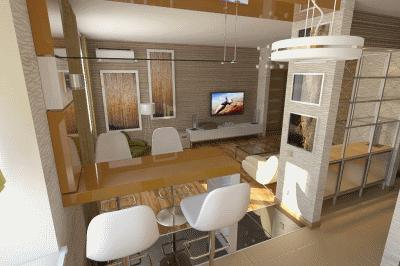Несколько идей для дизайна интерьера квартиры-студии для молодежи