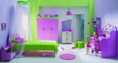 Создаем интерьер детской комнатки для девочек
