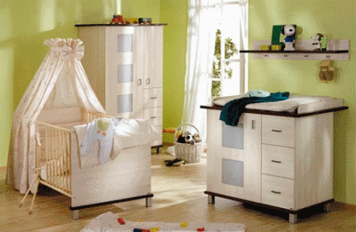 Интерьер детской комнатки для грудничка
