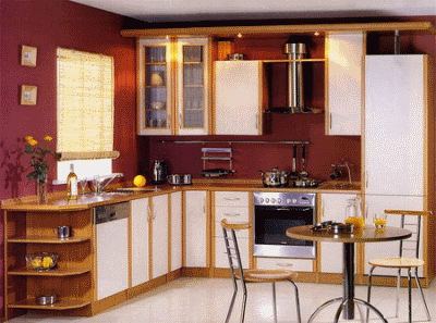 Варианты интерьера кухни-столовой