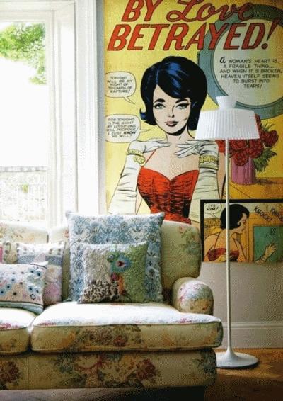 Использование сюжетов комиксов в современном интерьере