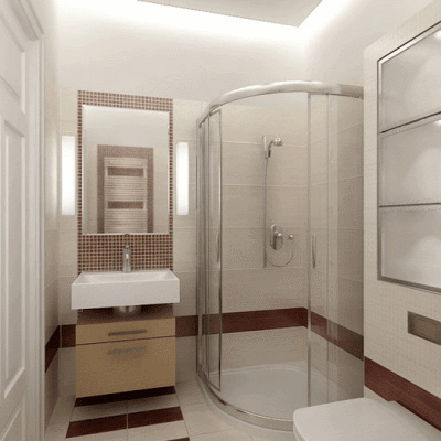 дизайны ванных комнат в деревянном доме с душевой кабиной фото