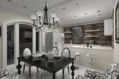 Оттеняем интерьер кухни изящной мебелью