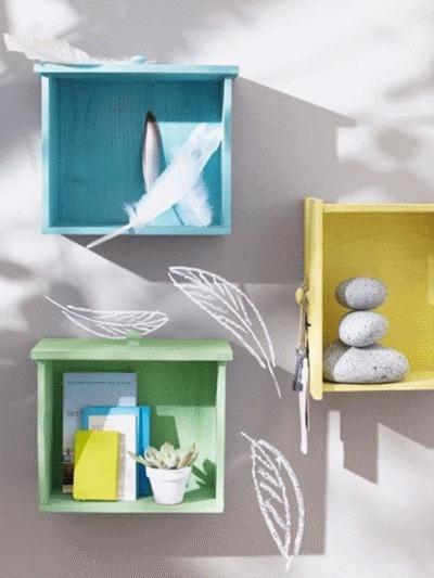 Как задействовать старые ящики в дизайне интерьера
