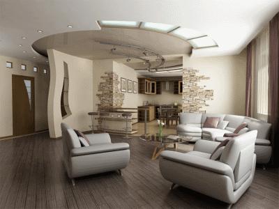 Обставляем гостиную комнату необходимой современной мебелью