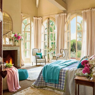 Создаем женскую спальню в винтажном стиле