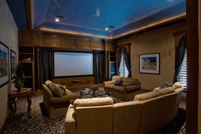 Обустраиваем интерьер домашнего кинотеатра