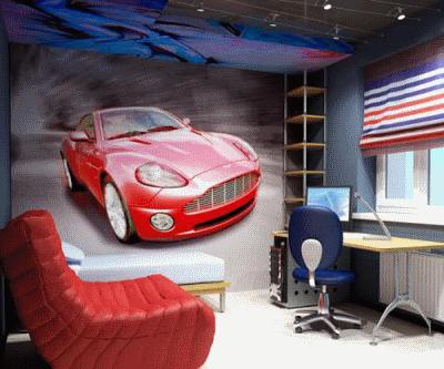 Место современной мебели в комнате для мальчика
