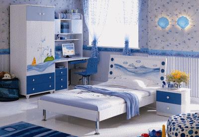 Использование морского стиля в разных комнатах