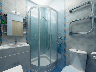Современная ванная комната в хрущевке