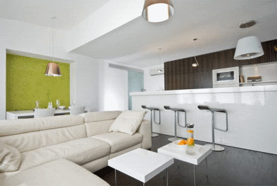 Барная стойка в дизайн интерьере гостиной