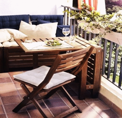 Несколько идей для обустройства весеннего балкона