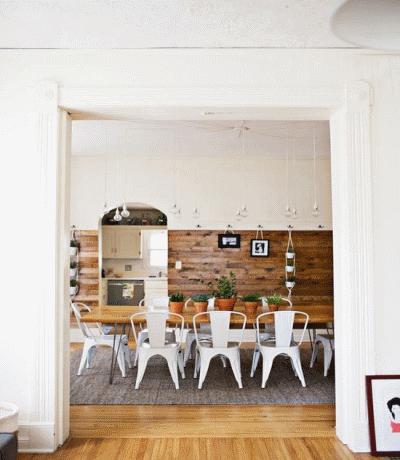 Натуральная деревянная отделка в интерьере