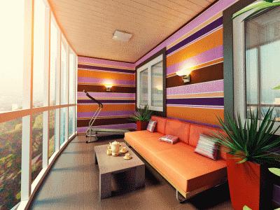 Дизайн городской лоджии и балкона