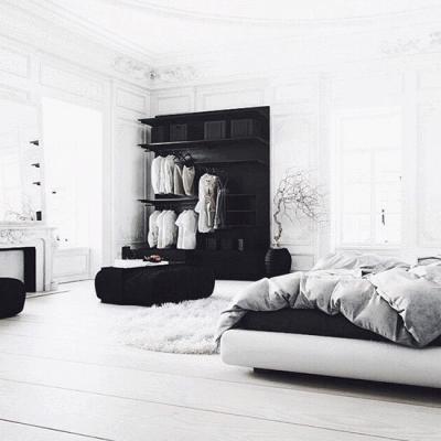 Место черно-белого минимализма в дизайне интерьера