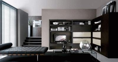 Место черного цвета в дизайне интерьера
