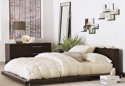 Немного о богемном минимализме: матрас на полу вместо спальной кровати