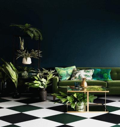 Зеленый цвет для мебели и интерьера