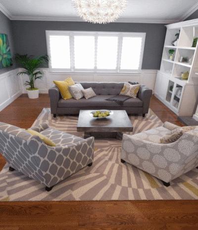 Делаем уютной скромную гостиную зону