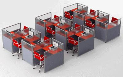Офисные перегородки: преимущества и разновидности