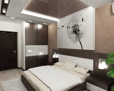 Современная хай-тек спальня